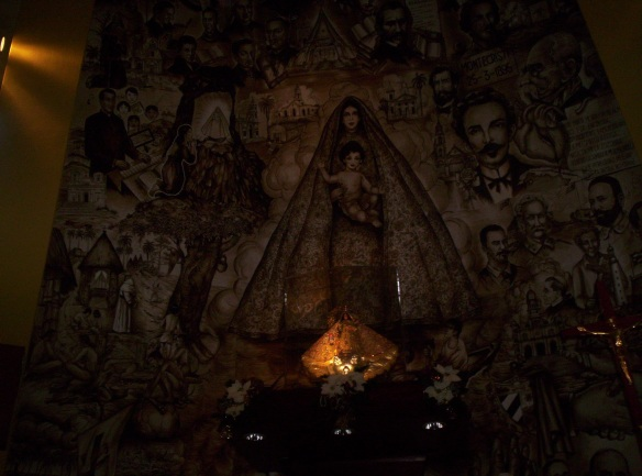 Mural en la  Ermita de la Caridad del Cobre de Miami. Foto: Carlos M. Estefanía