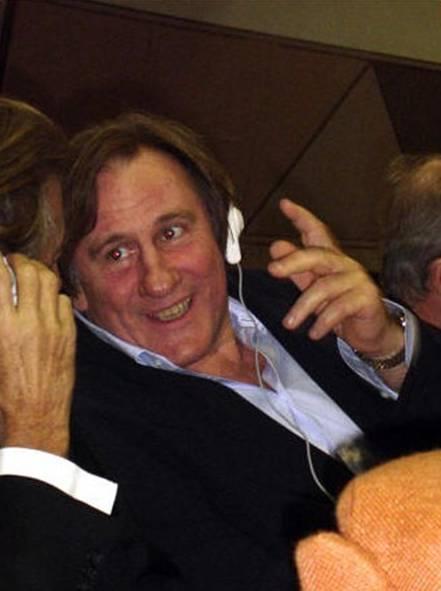Gérard Depardieu durante uno de sus quince viajes a  La Habana.