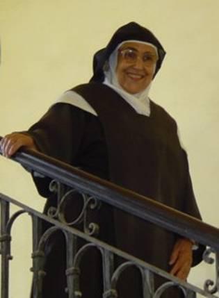 La hermana María Dinorah en el Carmelo, La Habana, 1909.