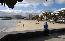 Playa de Arrecife, Lanzarote, 2014.