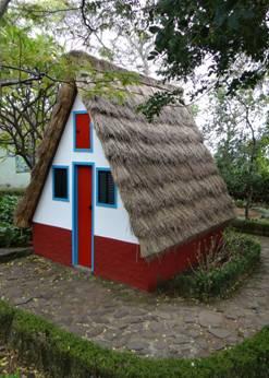 Cabaña campesina de Madeira.