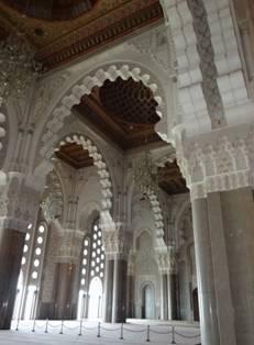 En la Gran Mezquita Hassan II de Casablanca, 2014.