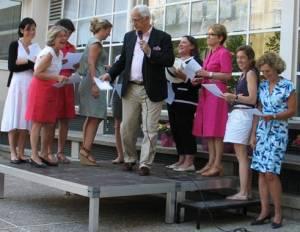 Félíx José Hernández con un grupo de colegas, Sainte Marie de Neuilly, 24 de junio de 2014