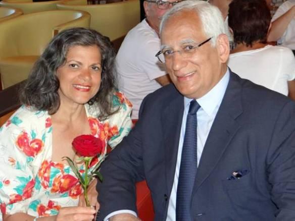 1974-2014 ¡40 años de casados! Isla de Samos. Grecia. En el Salón Puccini del Costa Classica. Mar Egeo, 29 de julio de 2014