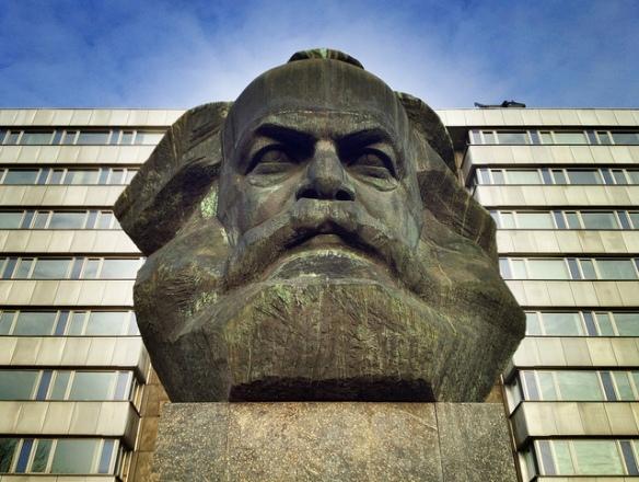Monumento a Karl Marx en Chemnitz, Saxonia, Alemania. Foto: f2b1610