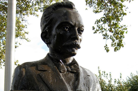 Busto de José Martí en el  Veterans Memorial Park -  NJ - West New York:  Foto: Wally Gobetz
