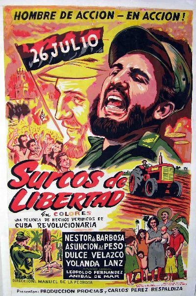 "Cartel original de la película ""Surcos de LIbertad"""