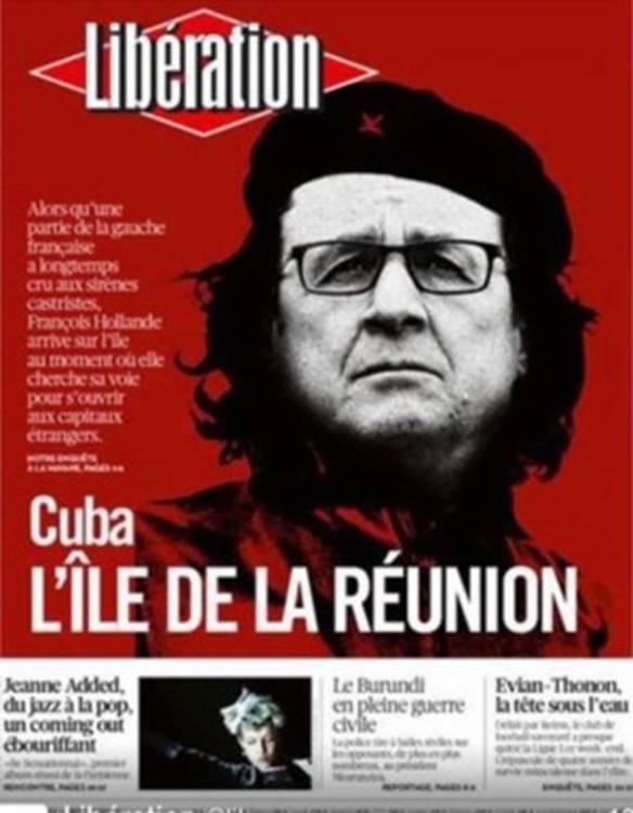 Hollande- Ché en la portada del periódico Libération, el más importante de la izquierda francesa.