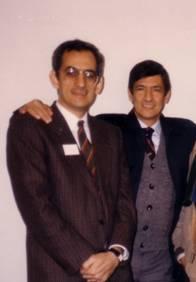 """Armando Valladares y Félix José Hernández en el Hôtel Lutetia  durante """"El proceso a Castro"""", París, 1986."""