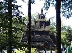 Bergen. La Fantoft Stave Church